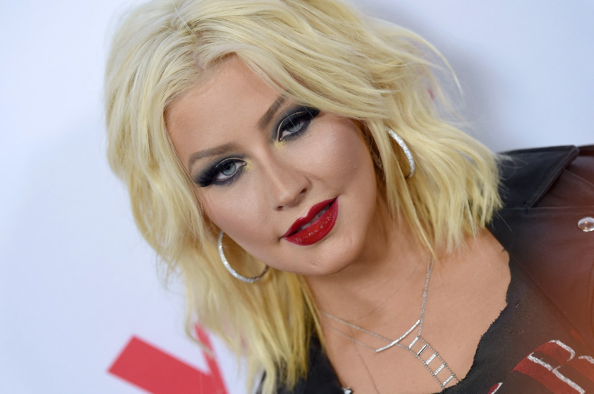 WEST HOLLYWOOD, CA - APRIL 23:  Singer Christina Aguilera arrives at NBC's 'The Voice' Season 8 red ...