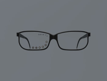 Digital concept AR glasses with Graphical User Interface