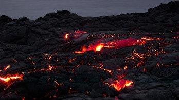 A lava field in Hawaii