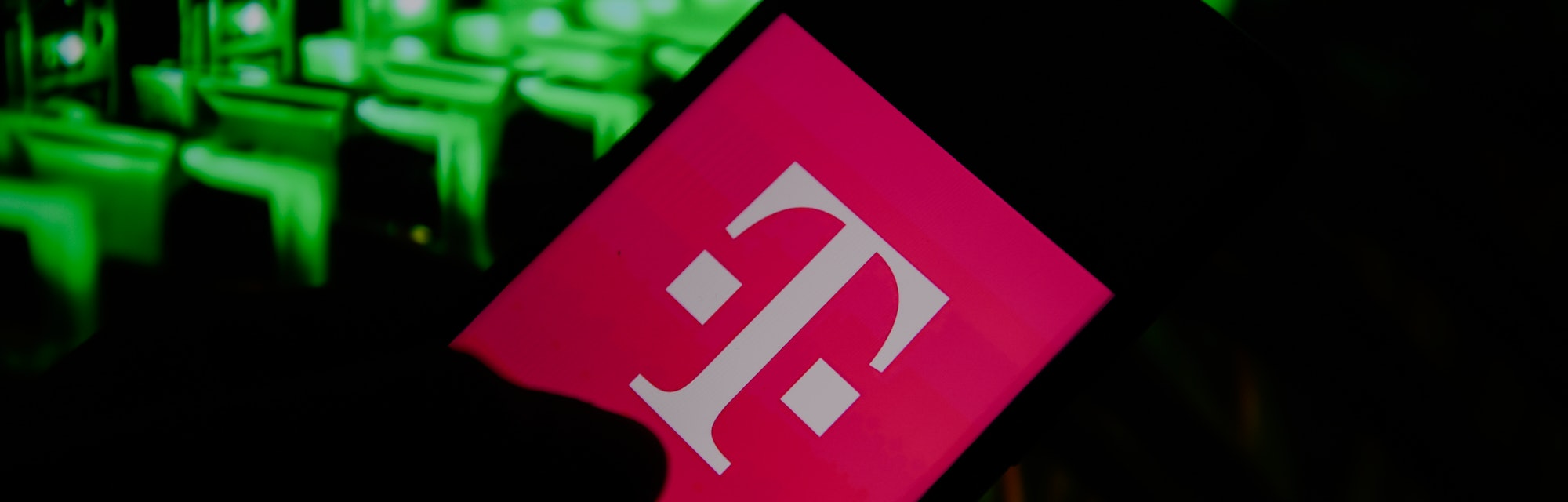 In this photo illustration a T Mobile logo seen displayed on a smartphone. (Photo Illustration by Omar Marques/SOPA Images/LightRocket via Getty Images)