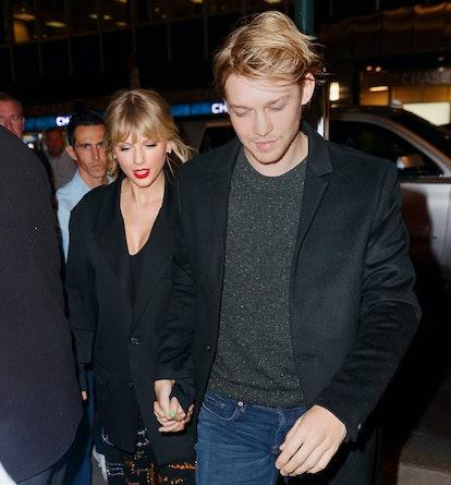 NEW YORK, NEW YORK - OCTOBER 06: Taylor Swift and Joe Alwyn arrive at Zuma on October 06, 2019 in Ne...