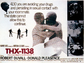Thx-1138, poster, 1971. (Photo by LMPC via Getty Images)