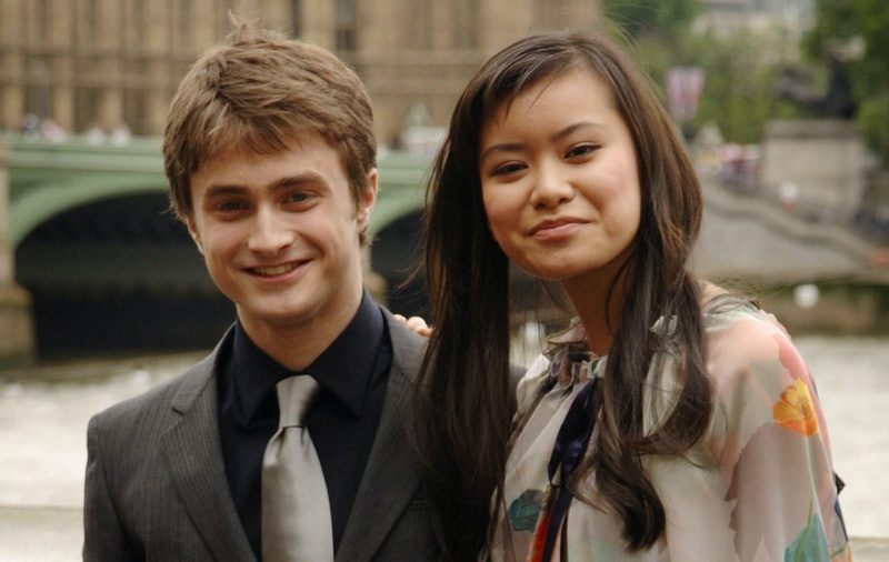The cast of Harry Potter And The Order Of The Phoenix, (left to right) Daniel Radcliffe and Katie Le...