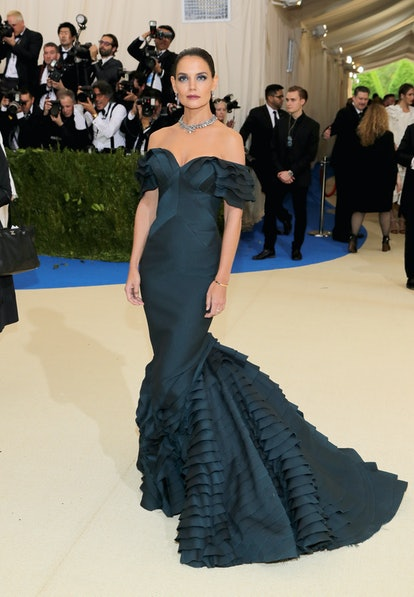 """NEW YORK, NY - MAY 01:  Katie Holmes attends the """"Rei Kawakubo/Comme des Garcons: Art Of The In-Between"""" Costume Institute Gala at Metropolitan Museum of Art on May 1, 2017 in New York City.  (Photo by Neilson Barnard/Getty Images)"""