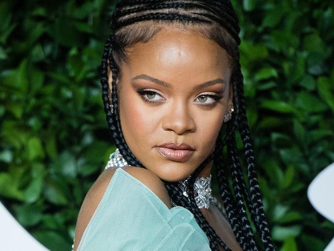 Rihanna arrives at The Fashion Awards 2019 held at Royal Albert Hall on December 02, 2019 in London,...