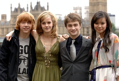 The cast of Harry Potter And The Order Of The Phoenix, (left to right) Rupert Grint, Emma Watson, Da...