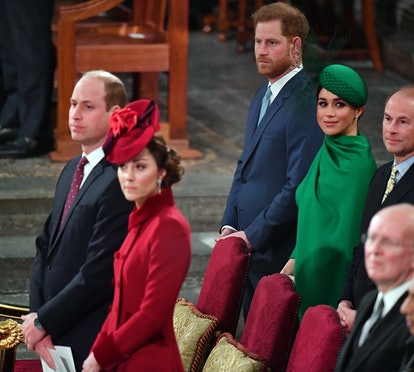 LONDON, ENGLAND - MARCH 09: Prince William, Duke of Cambridge, Catherine, Duchess of Cambridge, Prince Harry, Duke of Sussex and Meghan, Duchess of Sussex attend the Commonwealth Day Service 2020 on March 9, 2020 in London, England. (Photo by Phil Harris - WPA Pool/Getty Images)