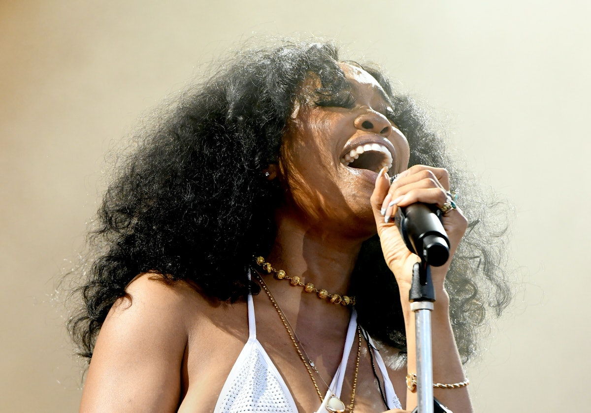 VIRGINIA BEACH, VIRGINIA - APRIL 27: SZA performs onstage at SOMETHING IN THE WATER - Day 2 on April...