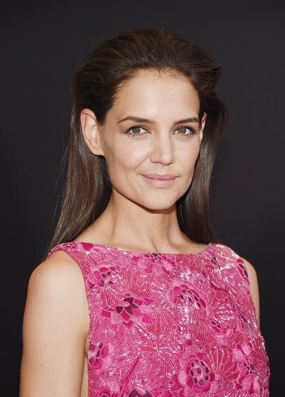 """NEW YORK, NY - MARCH 30:  Actress Katie Holmes attends the """"Woman In Gold"""" New York premiere at The Museum of Modern Art on March 30, 2015 in New York City.  (Photo by Michael Loccisano/Getty Images)"""