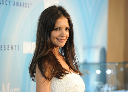 BEVERLY HILLS, CA - JUNE 16:  Actress Katie Holmes arrives at the 2011 Women In Film Crystal + Lucy Awards with presenting sponsor PANDORA jewelry at the Beverly Hilton Hotel on June 16, 2011 in Beverly Hills, California.  (Photo by Jason Merritt/Getty Images for WIF)