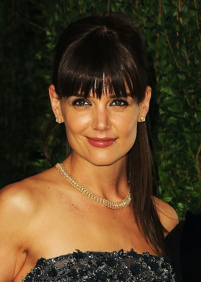 WEST HOLLYWOOD, CA - FEBRUARY 26:  Actress Katie Holmes arrives at the 2012 Vanity Fair Oscar Party hosted by Graydon Carter at Sunset Tower on February 26, 2012 in West Hollywood, California.  (Photo by Pascal Le Segretain/Getty Images)