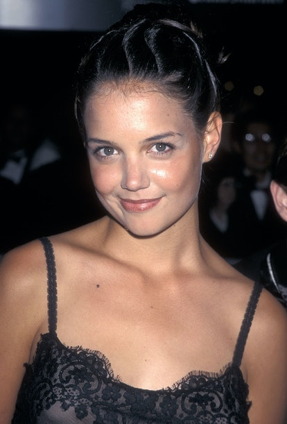 """NEW YORK CITY - SEPTEMBER 26:   Actress Katie Holmes attends the 35th Annual New York Film Festival Opening Night - """"The Ice Storm"""" Screening on September 26, 1997 at Avery Fisher Hall, Lincoln Center in New York City. (Photo by Ron Galella, Ltd./Ron Galella Collection via Getty Images)"""