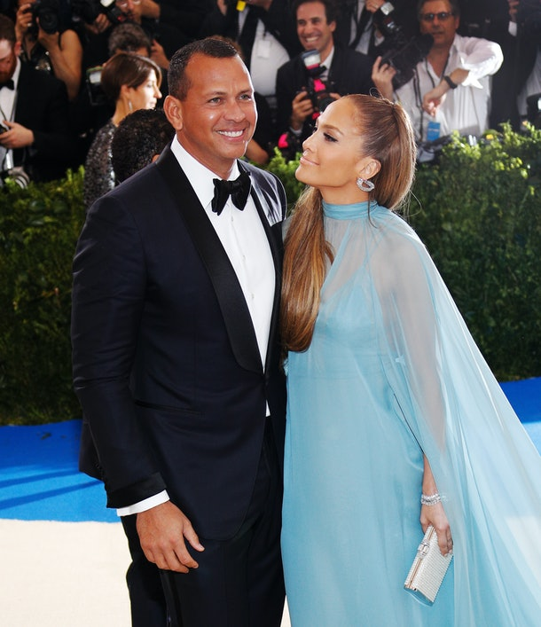 NEW YORK, NY - MAY 01:  Jennifer Lopez and Alex Rodriguez attend 'Rei Kawakubo/Comme des Garçons:Art of the In-Between' Costume Institute Gala at Metropolitan Museum of Art on May 1, 2017 in New York City.  (Photo by Jackson Lee/FilmMagic)