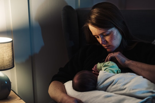 Your newborn doesn't know to be afraid of the dark yet, experts say.