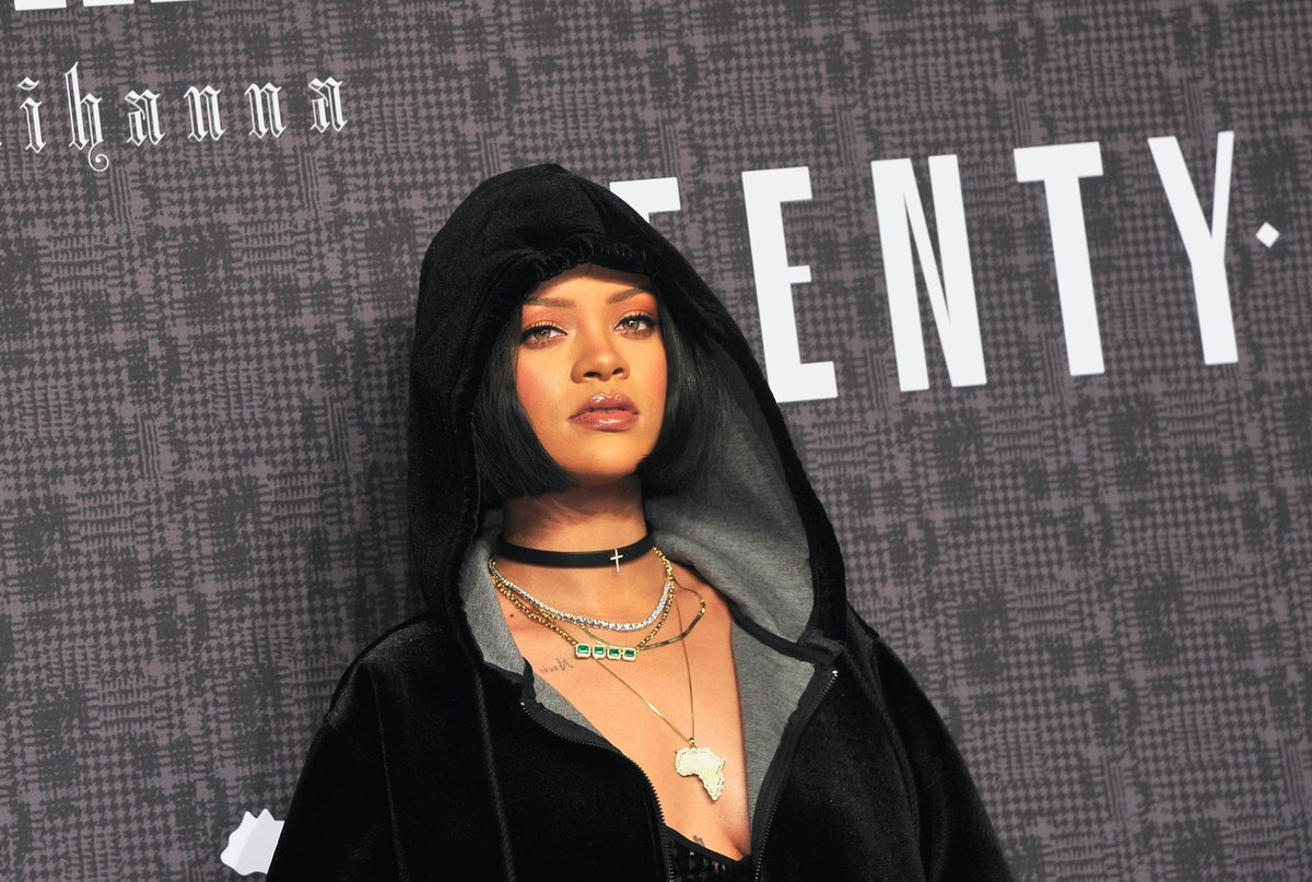 NEW YORK, NY - FEBRUARY 12:  Rihanna attends FENTY x PUMA by Rihanna at 23 Wall Street on February 12, 2016 in New York City.  (Photo by Kris Connor/WireImage)