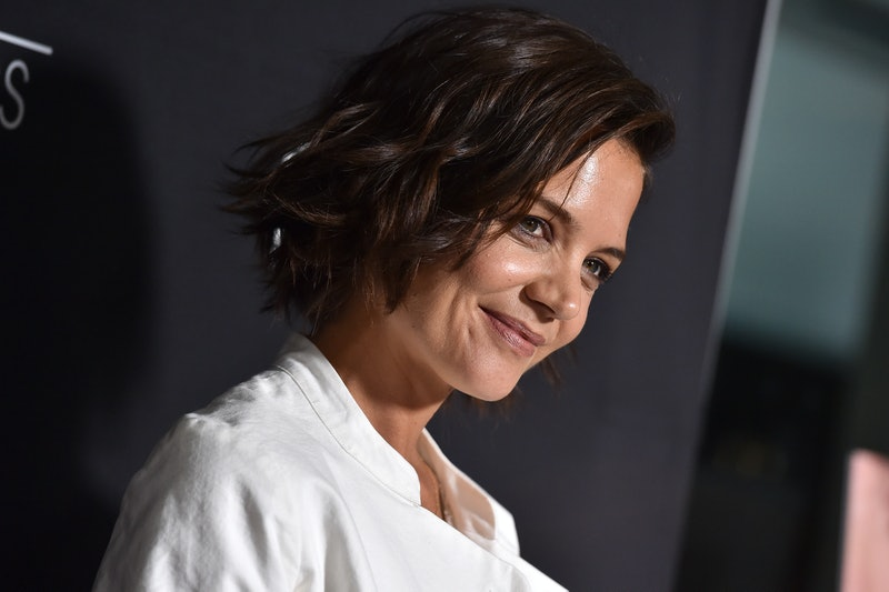 WEST HOLLYWOOD, CA - JULY 23:  Katie Holmes arrives at Sony Pictures Classics' Los Angeles premiere of 'The Wife' at Pacific Design Center on July 23, 2018 in West Hollywood, California.  (Photo by Axelle/Bauer-Griffin/FilmMagic)