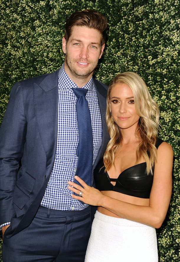 """WEST HOLLYWOOD, CA - APRIL 27: Jay Cutler and Kristin Cavallari attend the launch event for """"Uncommon James"""" at Fig & Olive on April 27, 2017 in West Hollywood, California.  (Photo by Jason LaVeris/Getty Images)"""
