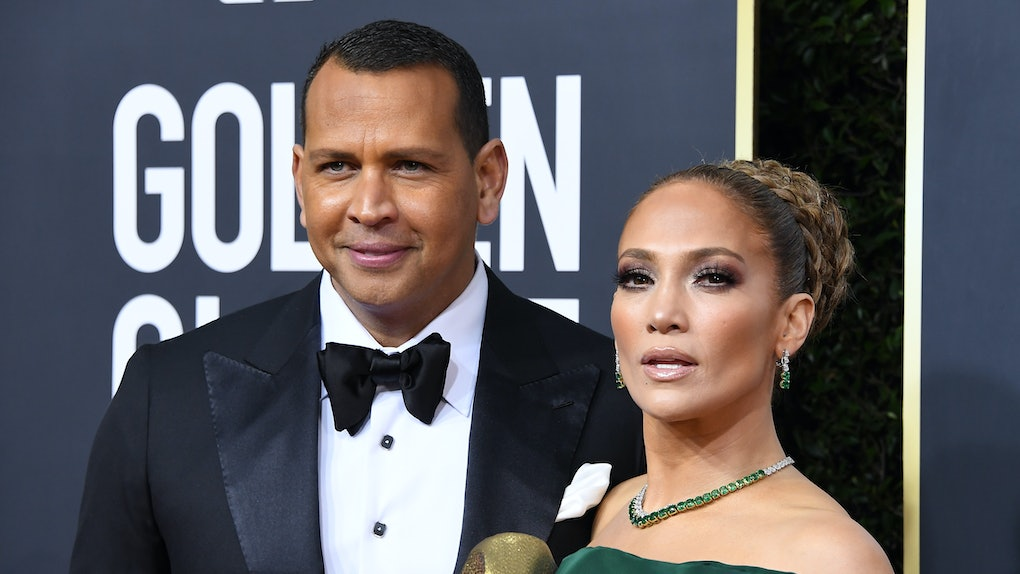 BEVERLY HILLS, CALIFORNIA - JANUARY 05: Jennifer Lopez and Alex Rodriguez arrives at the 77th Annual Golden Globe Awards attends the 77th Annual Golden Globe Awards at The Beverly Hilton Hotel on January 05, 2020 in Beverly Hills, California. (Photo by Steve Granitz/WireImage)