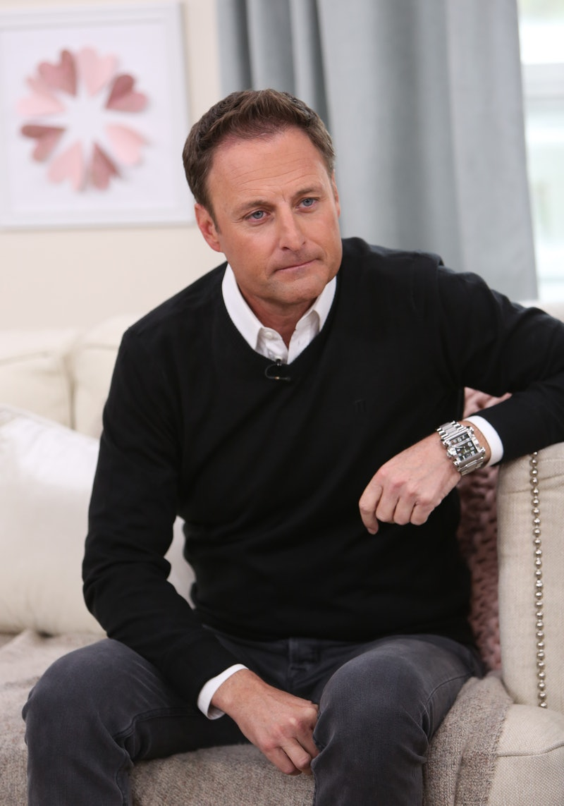 """UNIVERSAL CITY, CALIFORNIA - FEBRUARY 13: TV Personality Chris Harrison visits Hallmark's """"Home & Family"""" at Universal Studios Hollywood on February 13, 2019 in Universal City, California. (Photo by Paul Archuleta/Getty Images)"""
