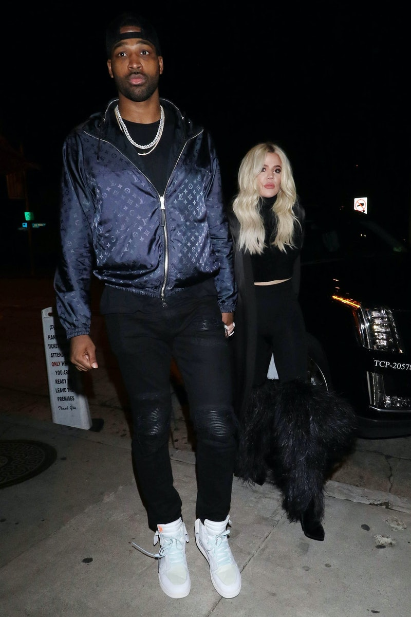 LOS ANGELES, CA - JANUARY 13:  Khloe Kardashian and Tristan Thompson are seen on January 13, 2019 in Los Angeles, CA.  (Photo by Hollywood To You/Star Max/GC Images)