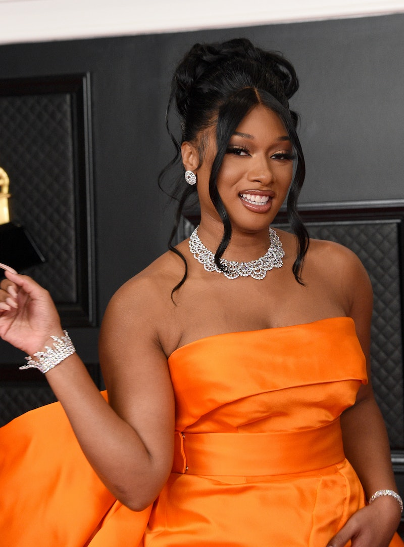 """Megan Thee Stallion's Grammy's 2021 gown has a leg slit *up to there."""""""