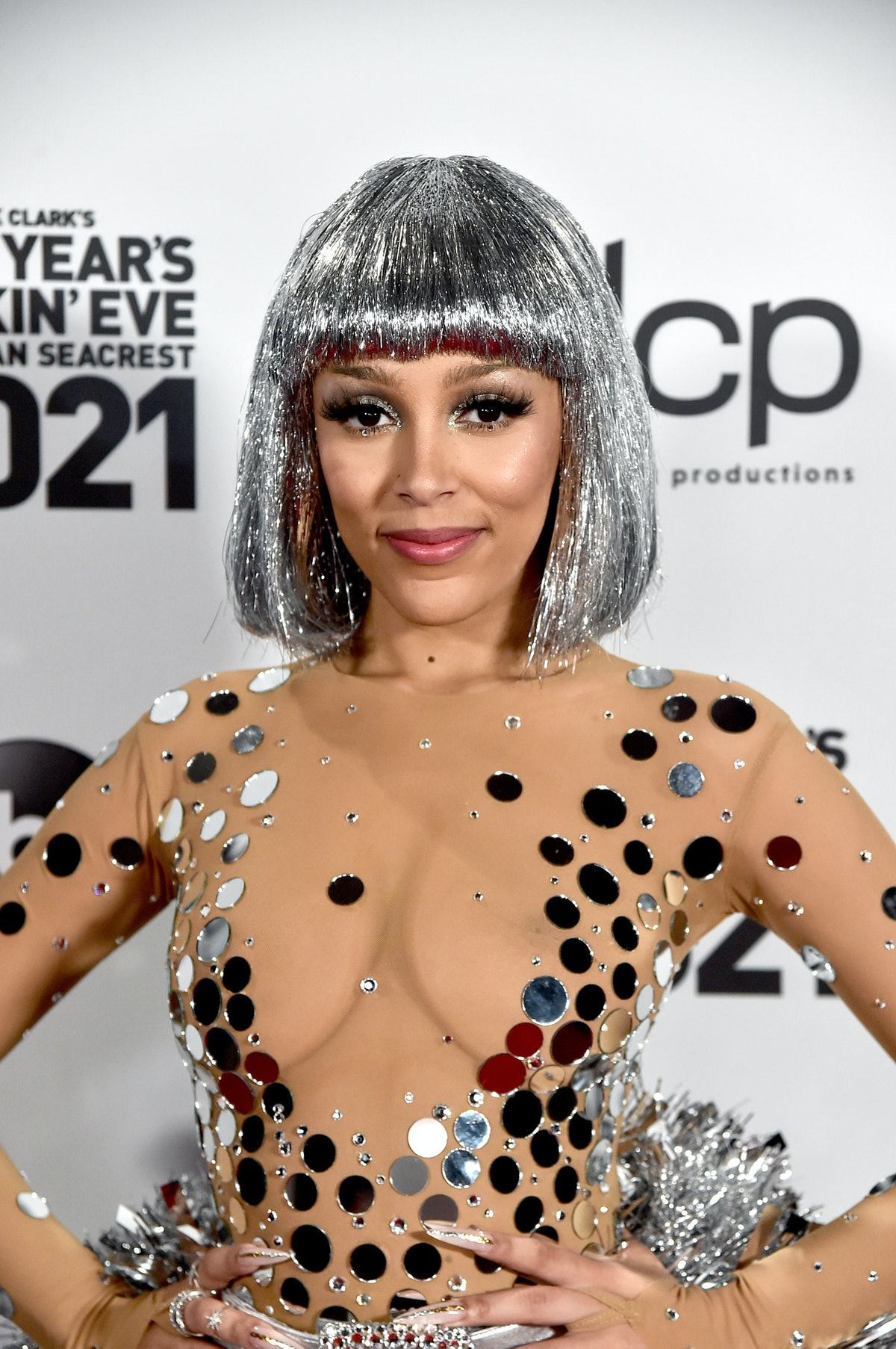 LOS ANGELES, CA – DECEMBER 31st: In this image released on December 31, Doja Cat arrives at Dick Cla...