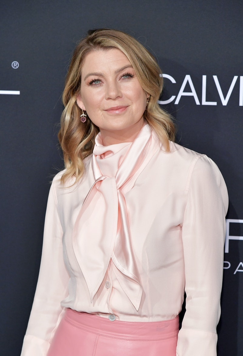 LOS ANGELES, CA - OCTOBER 15:  Ellen Pompeo attends ELLE's 25th Annual Women In Hollywood Celebration presented by L'Oreal Paris, Hearts On Fire and CALVIN KLEIN at Four Seasons Hotel Los Angeles at Beverly Hills on October 15, 2018 in Los Angeles, California.  (Photo by Neilson Barnard/Getty Images for ELLE Magazine)