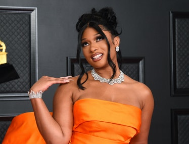 Megan Thee Stallion attends the 63rd Annual GRAMMY Awards at Los Angeles Convention Center on March ...