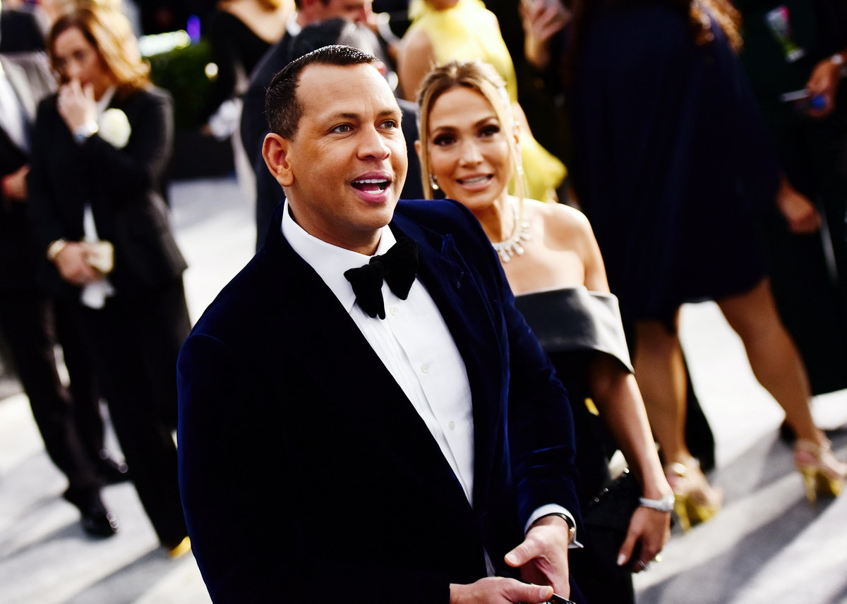 LOS ANGELES, CALIFORNIA - JANUARY 19: Alex Rodriguez and Jennifer Lopez attend the 26th annual Scree...