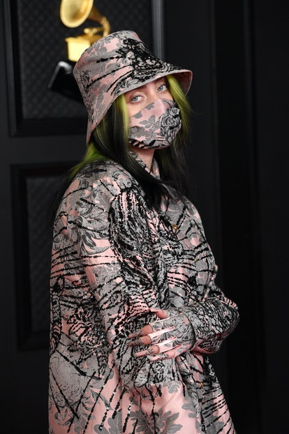 LOS ANGELES, CALIFORNIA - MARCH 14: Billie Eilish attends the 63rd Annual GRAMMY Awards at Los Angeles Convention Center on March 14, 2021 in Los Angeles, California. (Photo by Kevin Mazur/Getty Images for The Recording Academy )