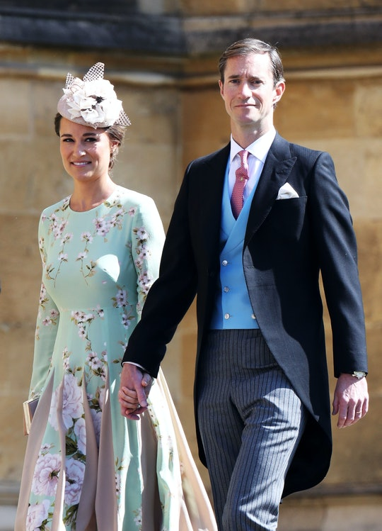 WINDSOR, ENGLAND - MAY 19:  Pippa Middleton and James Matthews arrive at the wedding of Prince Harry to Ms Meghan Markle at St George's Chapel, Windsor Castle on May 19, 2018 in Windsor, England.  (Photo by Chris Jackson/Getty Images)