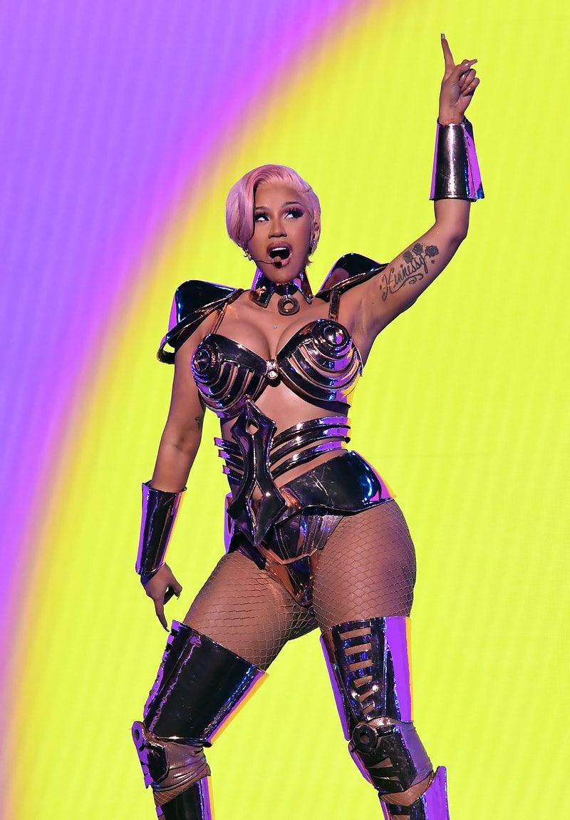 LOS ANGELES, CALIFORNIA: In this image released on March 14, Cardi B performs onstage during the 63r...