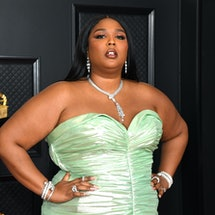 Lizzo's Grammys 2021 Dress Explained By Stylist Brett Nelson