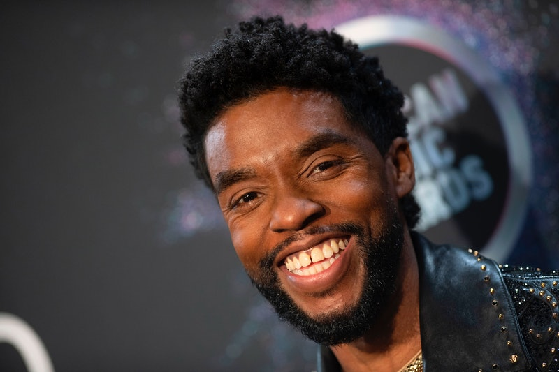 US actor Chadwick Boseman poses in the press room during the 2019 American Music Awards at the Microsoft theatre on November 24, 2019 in Los Angeles. (Photo by Valerie MACON / AFP) (Photo by VALERIE MACON/AFP via Getty Images)