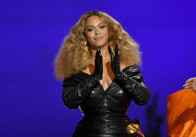 LOS ANGELES, CALIFORNIA - MARCH 14: Beyoncé accepts the Best Rap Song award for 'Savage' onstage during the 63rd Annual GRAMMY Awards at Los Angeles Convention Center on March 14, 2021 in Los Angeles, California. (Photo by Kevin Winter/Getty Images for The Recording Academy)