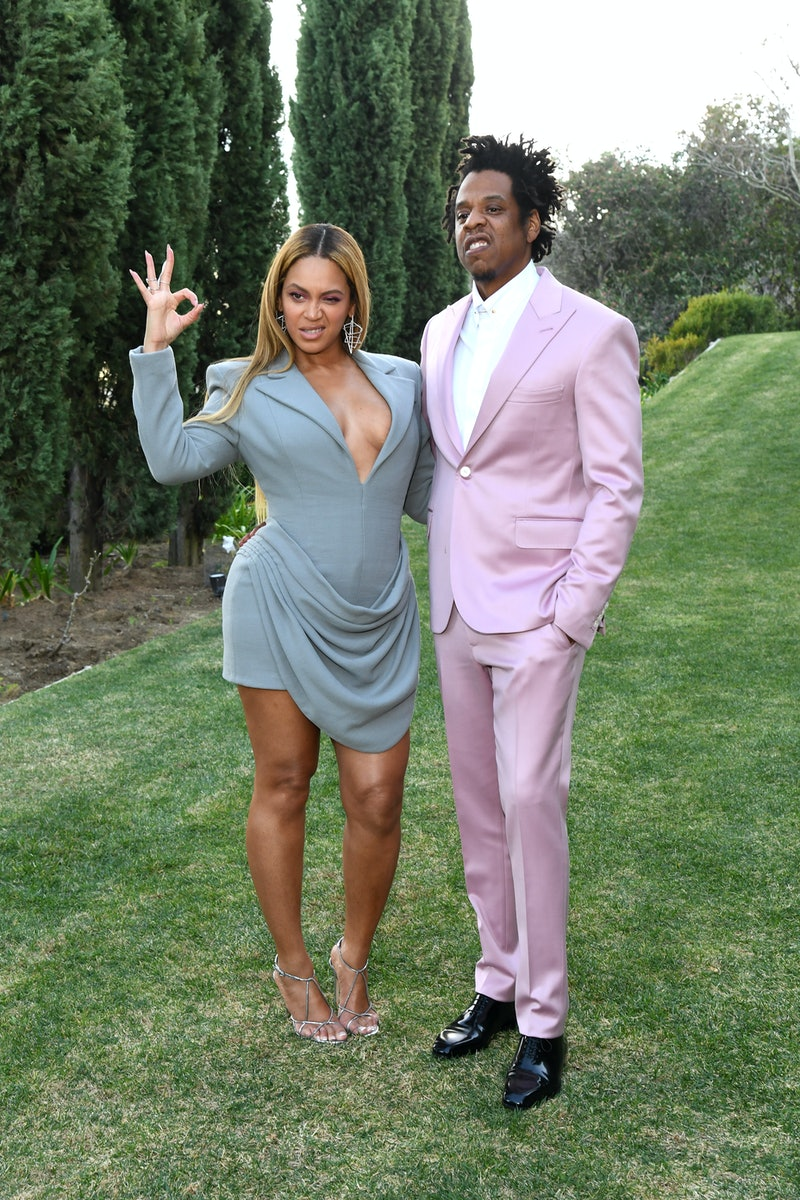 LOS ANGELES, CALIFORNIA - JANUARY 25: (L-R) Beyoncé and Jay-Z attend 2020 Roc Nation THE BRUNCH on January 25, 2020 in Los Angeles, California. (Photo by Kevin Mazur/Getty Images for Roc Nation)