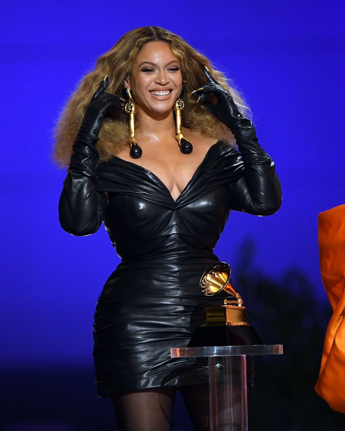 LOS ANGELES, CALIFORNIA - MARCH 14: Beyoncé accepts the Best Rap Performance award for 'Savage' onstage during the 63rd Annual GRAMMY Awards at Los Angeles Convention Center on March 14, 2021 in Los Angeles, California. (Photo by Kevin Winter/Getty Images for The Recording Academy)