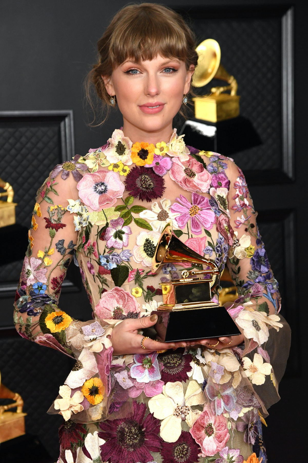 LOS ANGELES, CALIFORNIA - MARCH 14: Taylor Swift, winner of the Album of the Year award for 'Folklor...