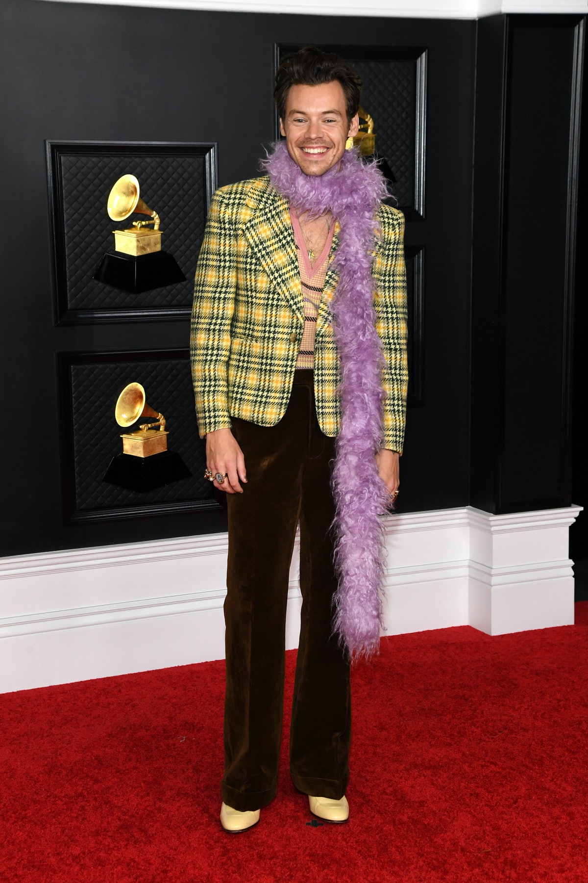 LOS ANGELES, CALIFORNIA - MARCH 14: Harry Styles attends the 63rd Annual GRAMMY Awards at Los Angele...