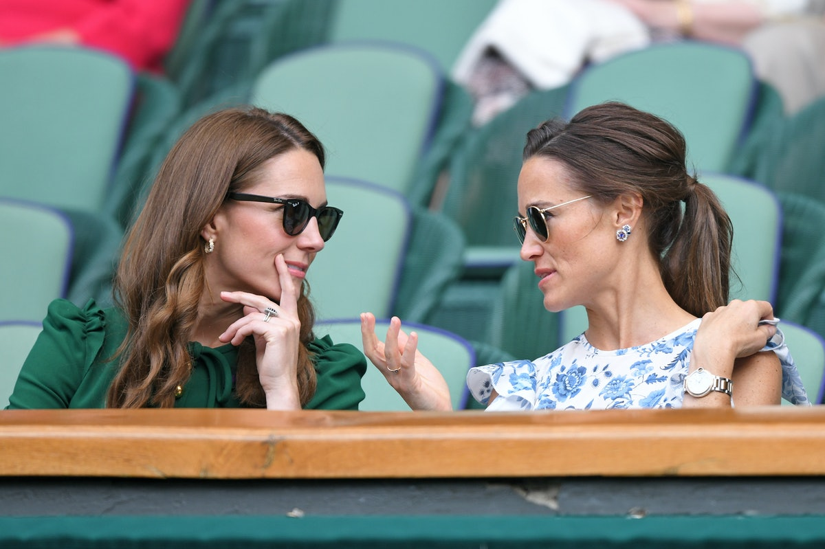 LONDON, ENGLAND - JULY 13: Catherine, Duchess of Cambridge and Pippa Middleton in the Royal Box on C...