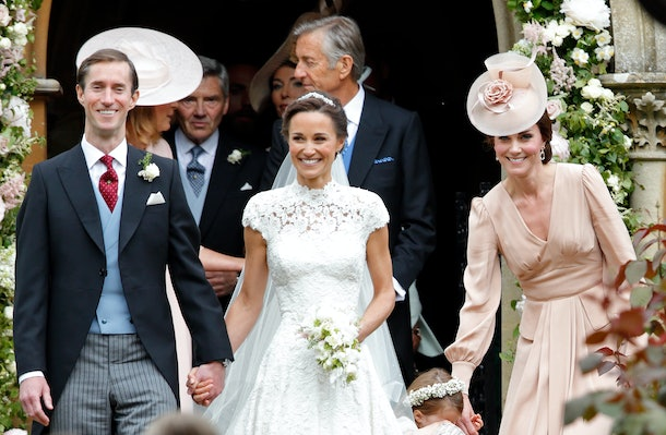 ENGLEFIELD GREEN, UNITED KINGDOM - MAY 20: (EMBARGOED FOR PUBLICATION IN UK NEWSPAPERS UNTIL 48 HOURS AFTER CREATE DATE AND TIME) James Matthews and Pippa Middleton leave St Mark's Church along with Catherine, Duchess of Cambridge after their wedding on May 20, 2017 in Englefield Green, England. (Photo by Max Mumby/Indigo/Getty Images)