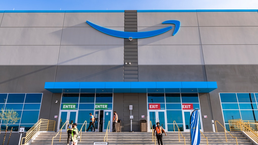 Henderson, Nevada, United States - August 17, 2020: Amazon fulfillment center exterior shot in Henderson Nevada USA . Amazon's new fulfillment center in Henderson Nevada opened in July 2020. Amazon is the most famous on-line shopping company in the world.