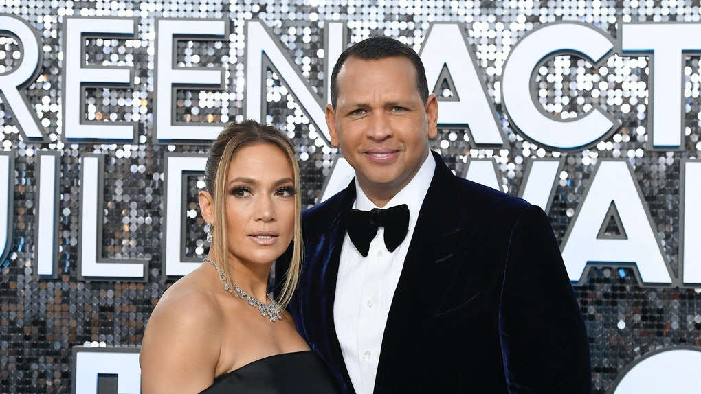 LOS ANGELES, CALIFORNIA - JANUARY 19: (L-R) Jennifer Lopez and Alex Rodriguez attend the 26th Annual Screen ActorsGuild Awards at The Shrine Auditorium on January 19, 2020 in Los Angeles, California. (Photo by Frazer Harrison/Getty Images)