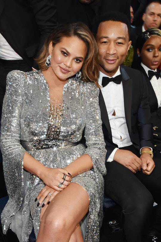 NEW YORK, NY - JANUARY 28:  TV personality Chrissy Tiegan and recording artist John Legend attend the 60th Annual GRAMMY Awards at Madison Square Garden on January 28, 2018 in New York City.  (Photo by Kevin Mazur/Getty Images for NARAS)