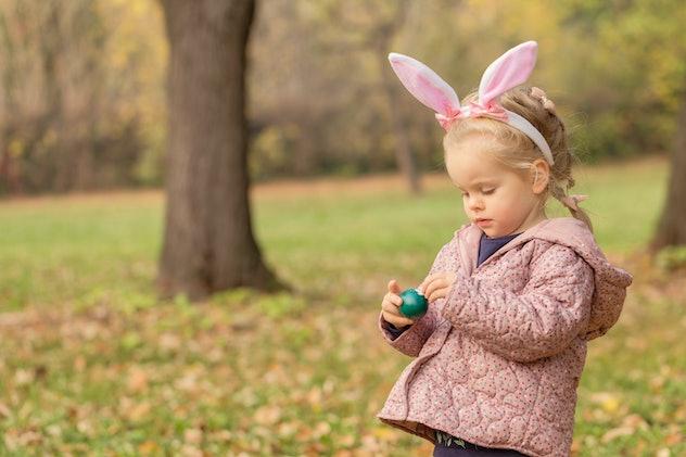 little girl easter bunny ears