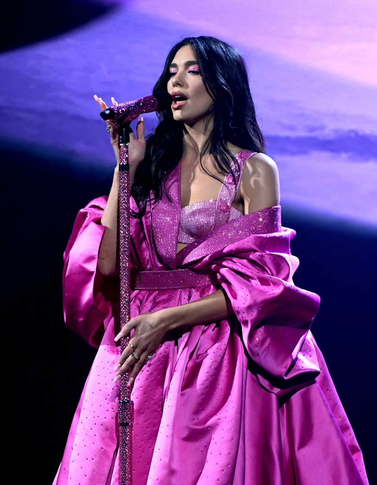 Dua Lipa performs onstage during the 63rd Annual GRAMMY Awards at Los Angeles Convention Center in L...