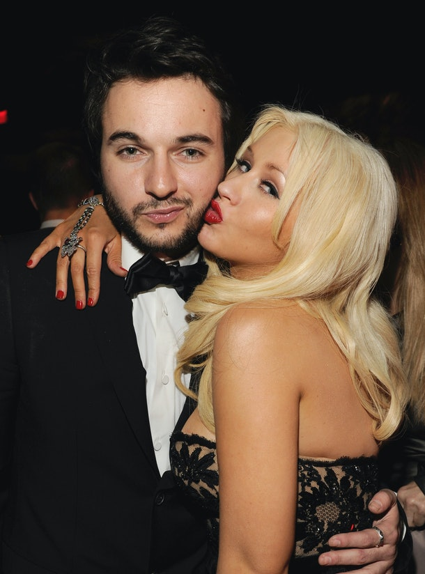 BEVERLY HILLS, CA - JANUARY 16:  (Exclusive Coverage) Matt Rutler and Christina Aguilera attend the InStyle and Warner Bros. 68th annual Golden Globe awards post-party at The Beverly Hilton hotel on January 16, 2011 in Beverly Hills, California. (Photo by Kevin Mazur/Getty Images)