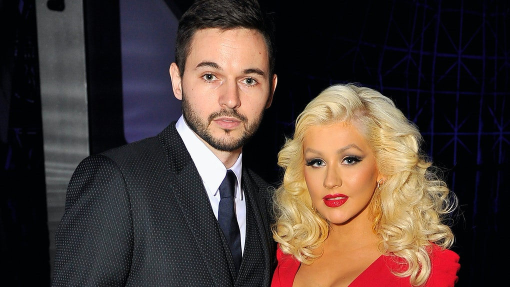 MOUNTAIN VIEW, CA - NOVEMBER 09:  Singer Christina Aguilera (R) and Matt Rutler attend the Breakthrough Prize Awards Ceremony Hosted By Seth MacFarlane at NASA Ames Research Center on November 9, 2014 in Mountain View, California.  (Photo by Steve Jennings/Getty Images for Breakthrough Prize)