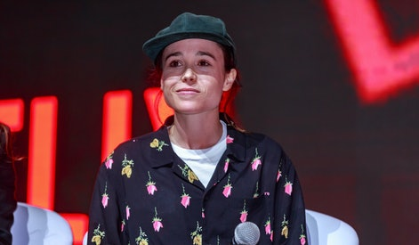 SAO PAULO, BRAZIL - DECEMBER 08: Ellen Page attends the Netflix Original: The Umbrella Academy panel at Comic-Con São Paulo on December 8, 2018 in Sao Paulo, Brazil. (Photo by Alexandre Schneider/Getty Images for Netflix)