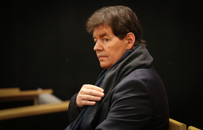 Former Belgian politician Bernard Wesphael attends the second day of his trial before the Assize Court of Hainaut province in Mons on September 20, 2016, accused of the murder of his wife Veronique Pirotton, in a hotel in Ostend on October 31, 2013. / AFP / Belga / VIRGINIE LEFOUR / Belgium OUT        (Photo credit should read VIRGINIE LEFOUR/AFP via Getty Images)